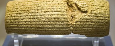 Cyrus Cylinder display in the British Museum