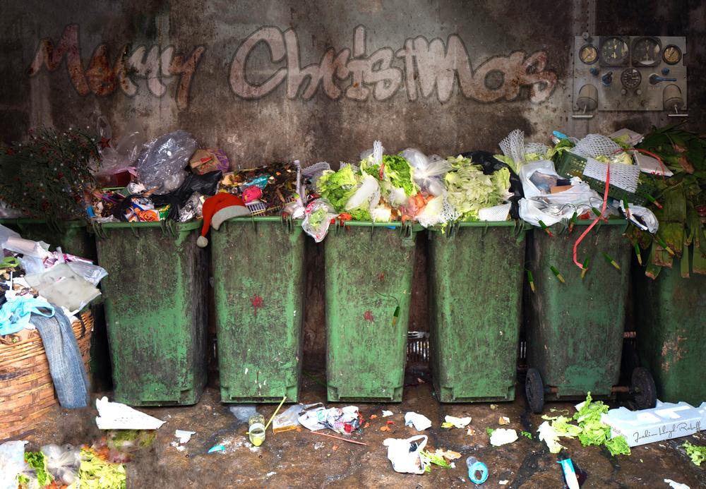 christmas garbage, waste