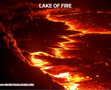 hell looks like a lake of fire