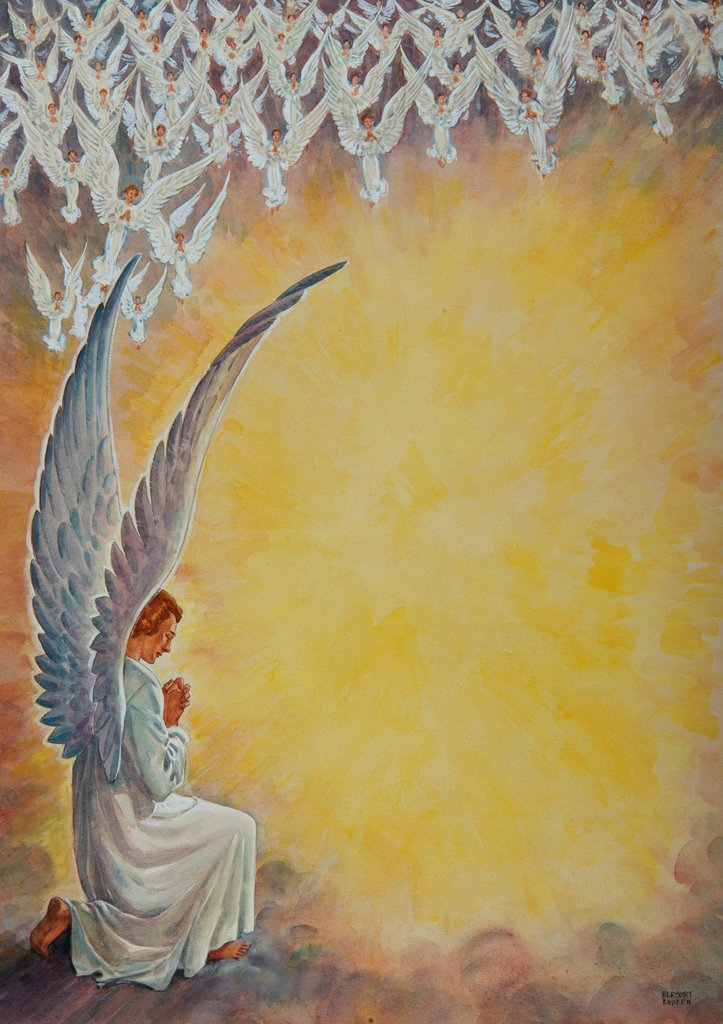 angels worship god