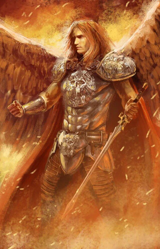 lucifer battles in heaven